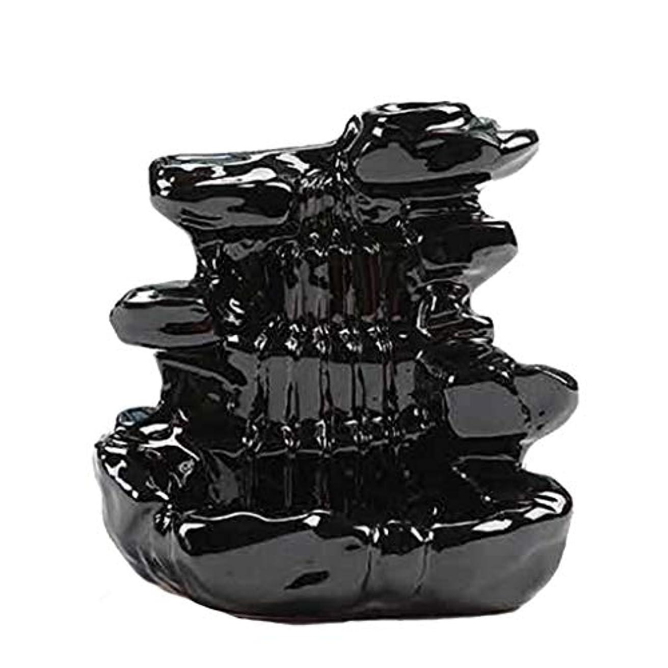 インストラクターによると勇気のある芳香器?アロマバーナー 家の装飾逆流香バーナーセラミックコーン滝香ホルダー仏教香炉 アロマバーナー芳香器 (Color : B)