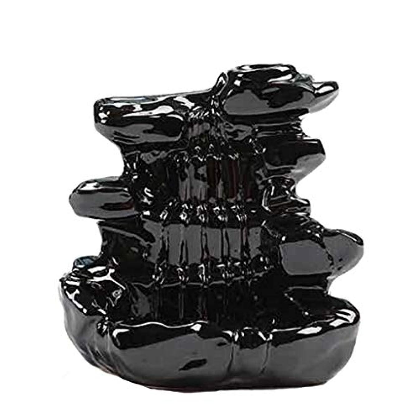 石化するやさしいライバル芳香器?アロマバーナー 家の装飾逆流香バーナーセラミックコーン滝香ホルダー仏教香炉 アロマバーナー芳香器 (Color : B)