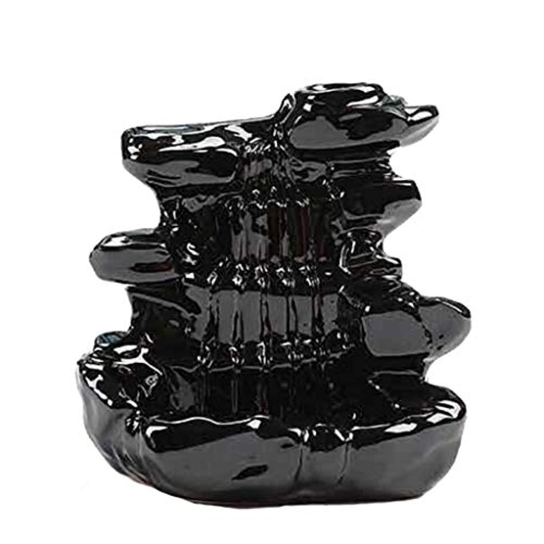 飾り羽レトルトしなければならない芳香器?アロマバーナー 家の装飾逆流香バーナーセラミックコーン滝香ホルダー仏教香炉 アロマバーナー芳香器 (Color : B)