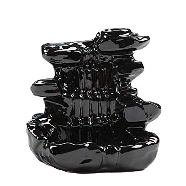 縫い目懐結婚芳香器?アロマバーナー 家の装飾逆流香バーナーセラミックコーン滝香ホルダー仏教香炉 アロマバーナー芳香器 (Color : B)