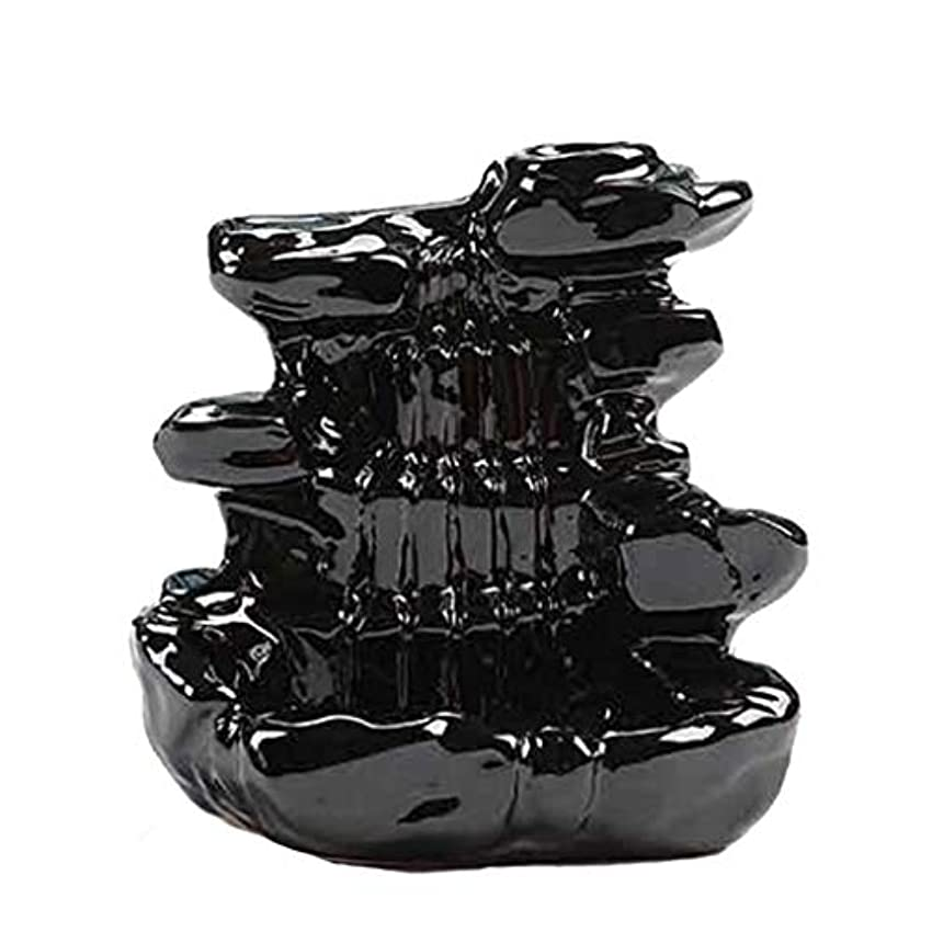 まぶしさ撤回する慣れる芳香器?アロマバーナー 家の装飾逆流香バーナーセラミックコーン滝香ホルダー仏教香炉 アロマバーナー芳香器 (Color : B)