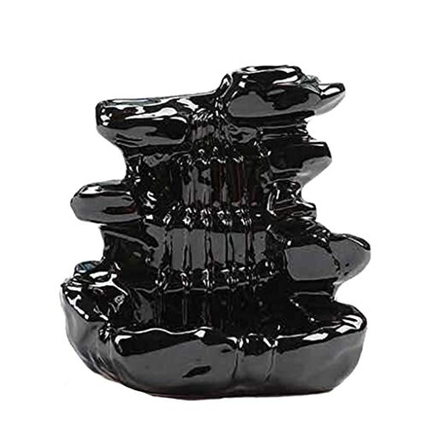 大佐プロトタイプジョブ芳香器?アロマバーナー 家の装飾逆流香バーナーセラミックコーン滝香ホルダー仏教香炉 アロマバーナー芳香器 (Color : B)