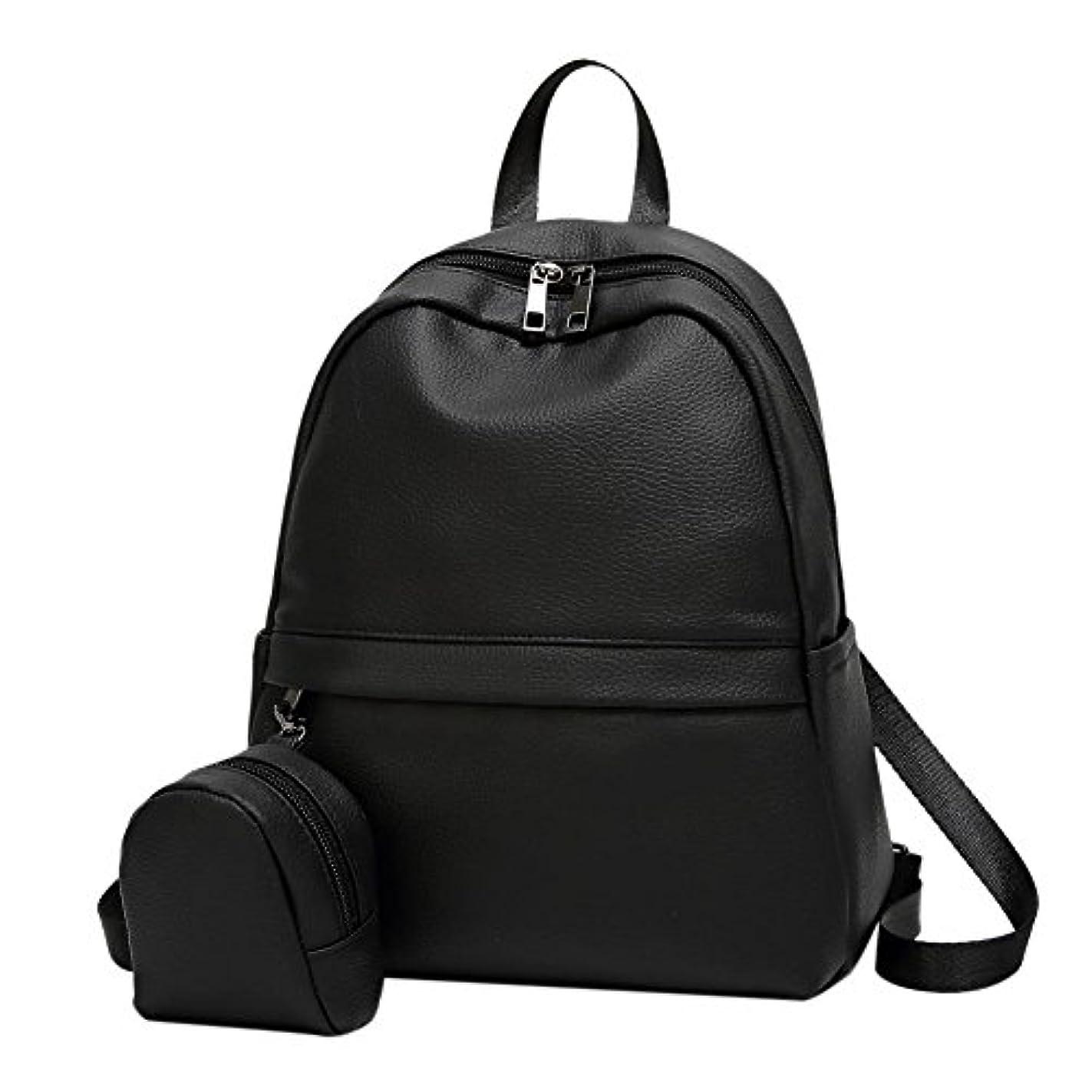 とにかく顔料に話すリュック レディース レザー リュックサック 手提げバッグ ショルダーバッグ 防水 大容量 女性用 通学 通勤 2点セット