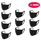 Three-layer Protective Anti-dust Black Mouth Mask,Unisex Fashioan Three-layer Cotton Face Mask Anime Mask Washable Mask Reusable Mask for Cycling Camping Travel for Kids Teens Men Women