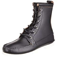 Quoddy Trail Moccasin Deck Boot 1003S: Black Chromexcel