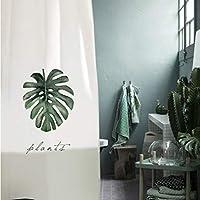 素敵なシャワーカーテン 肥厚不透明ポリエステル風呂無料パンチングシャワーカーテン防水無毒抗菌重金属ボタン浴室付属品 - (Color : B, サイズ : 200cm*180cm)