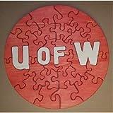 パズルマン玩具 W-1218-002 木製教育ジグソー パズル - 18インチ サークルインディアナ大学