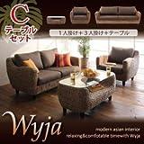 ウォーターヒヤシンスシリーズ 【Wyja】ウィージャ テーブルCセット「1P+3P+テーブル」