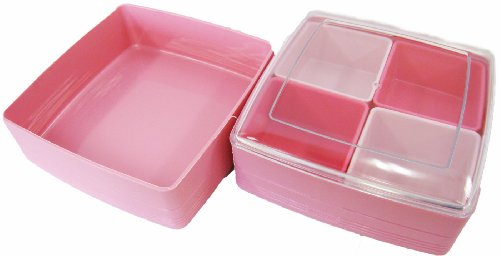 彩り小町 二段重 ピンク