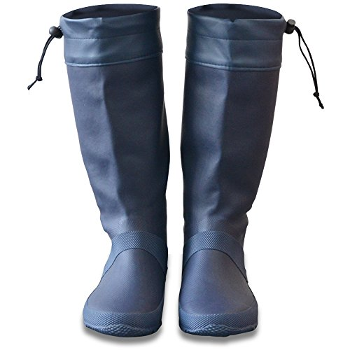 FIELDOOR レインブーツ 【ネイビー】 収納袋付 男女兼用 長靴