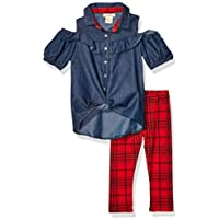 One Step Up Girls Woven Tunic and Legging Set Pants Set