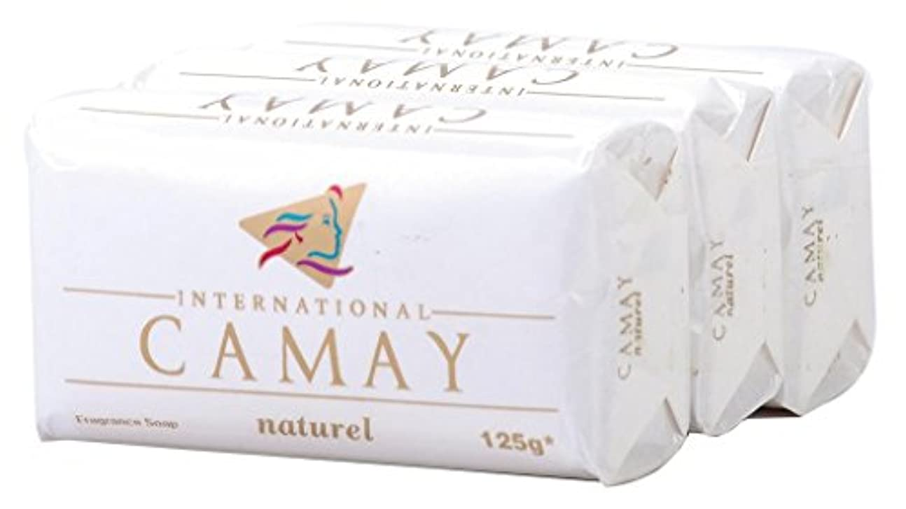 カジュアル小麦見る【CAMAY】キャメイ石鹸ナチュラル(白)125g×3個セット