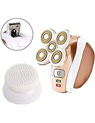 ユニセックス3 IN 1レディース電気シェーバー用足の顔の唇ボディアームコードレスビキニトリマーレディかみそり - 女性電気充電式リムーバー