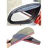 2x Universal Rear View Side Mirror Rain Board Sun Visor Shade Shield For Car Truck SUV Black