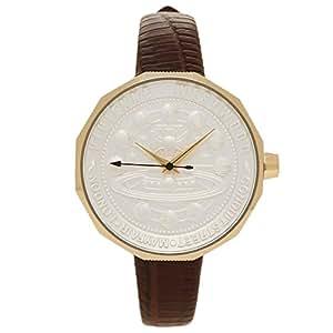 [ヴィヴィアンウエストウッド] 腕時計 レディース Vivienne Westwood VV171GDBR ブラウン ホワイト イエローゴールド [並行輸入品]