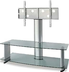 [34-50型]汎用/テレビ壁掛け風ラック/液晶・LED・プラズマ(クリアシルバー) - FS-ACE-206-1244CS