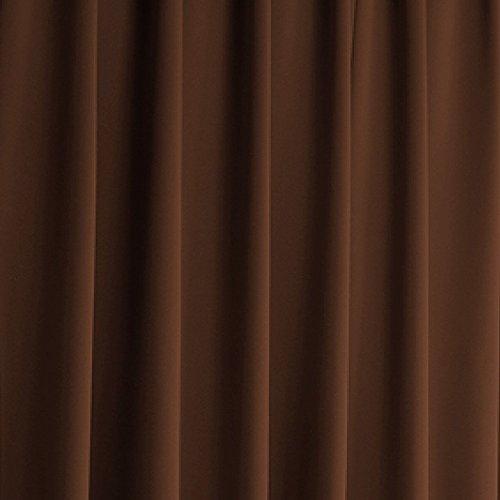窓美人 エール 遮光性カーテン&UVカットミラーレース 各2枚 幅100×丈90(88)cm チョコレート