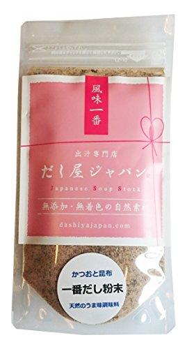 一番だし粉末(かつお・昆布) 60g 和食基本の味 煮物・茶碗蒸しなど 無添加 天然だし 国産