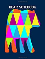 Bear Notebook: polygon bear - 50 sheets, 100 pages -  8.5 x 11 inches
