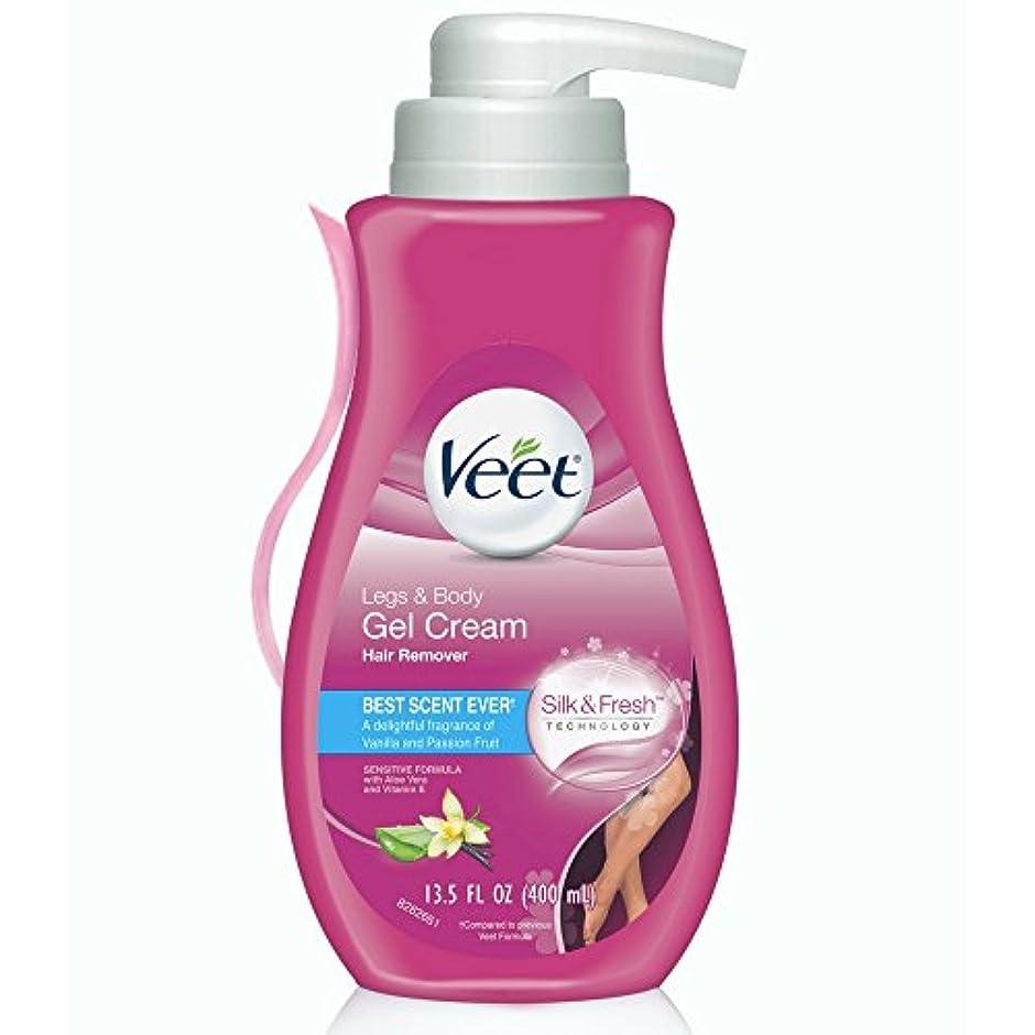 焦げコンデンサーファイバVEET. Hair Removal Gel Cream Pump: Sensitive Formula (並行輸入品)
