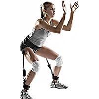 Honel トレーニングチューブ 足 脚 スポーツ トレーニング スピード 強度 アジリティ トレーニング用 レッグ 70ポンド抵抗バンド(ブラック)