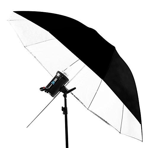 Neewer 59インチ/150cm取り外す可能な撮影用の照明アンブレラ 白いコンバーチブルアンブレラと取り外し可能な黒いカバーと反射銀バッキング