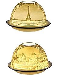 ベルナルド[BERNARDAUD] キャンドル用リトファニー ランプ 「パリ エッフェル塔」フランス製 リモージュ