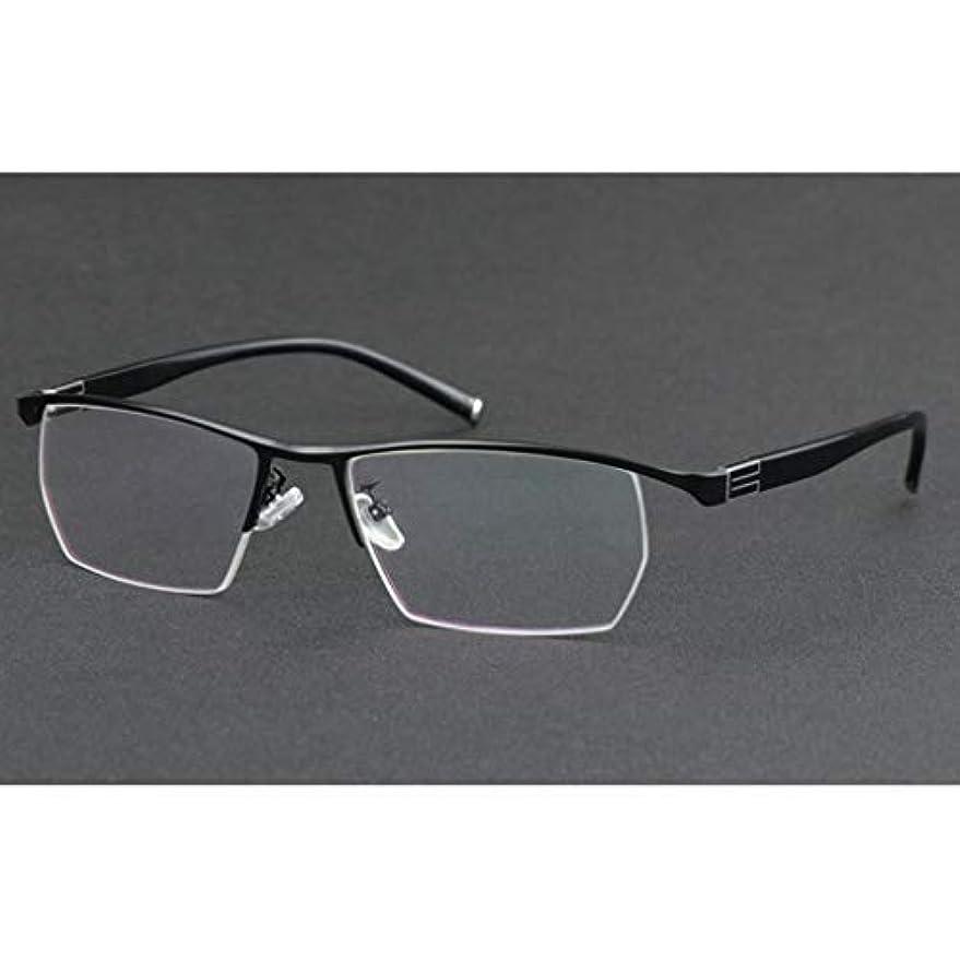 交換可能からかう小屋プログレッシブマルチフォーカス老眼鏡、スプリングヒンジステンレススチール素材、3レベルビジョンリーダー、メンズおよびウーマン用
