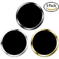3枚セット iPhoneホームボタンシール 指紋認証機能対応 取付簡単(ブラック& シルバー、ブラック& ゴールド)