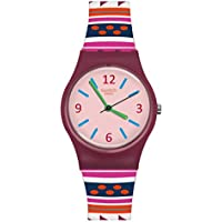 Swatch Women's Laraka LP152 Matte Red Silicone Swiss Quartz Fashion Watch
