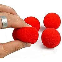 Idealhere マジック ソフト スポンジ ボール クローズ アップ マジック ステージ トリック小道具 10個入り