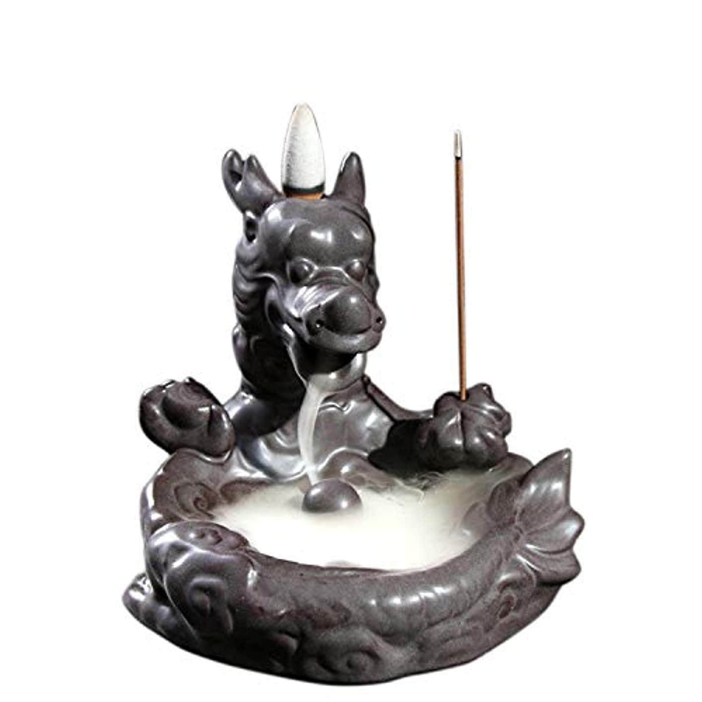 テザー怪しいバレルXPPXPP Backflow Incense Burner, Household Ceramic Returning Cone-shaped Candlestick Burner