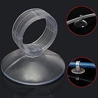 Flushbay 20個 水槽吸盤 水槽用品 ヒーター管等用 水槽 用 クリップ 式 吸盤 パイプ ホース 固定 水族館吸盤クリップ Oリングの内径22mm