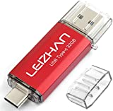 LEIZHAN TYPE-C USB メモリー?フラッシュドライブ 32G レッド 人気USB 高速転送 OTG 3.0携帯電話 コンピューター用 容量不足解消 マイクロペンドライブ 大容量 Uスティック