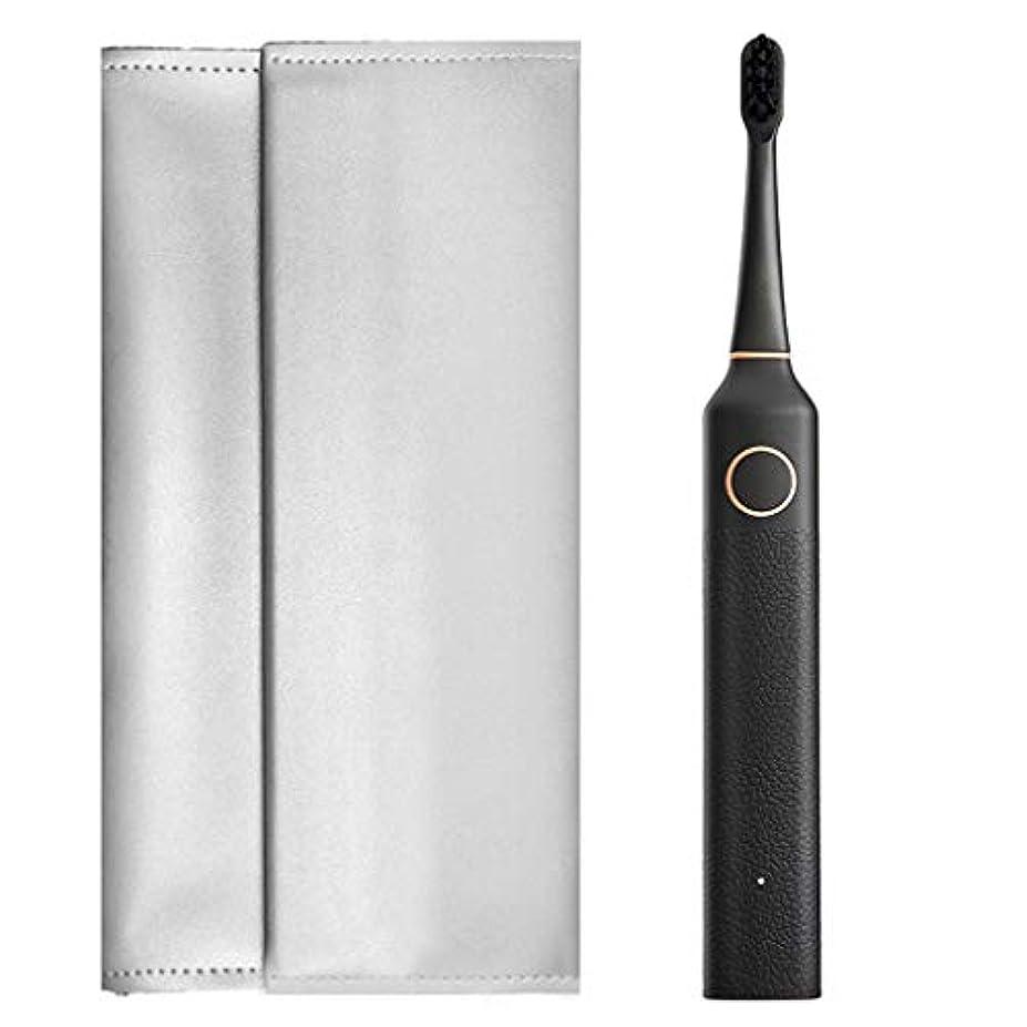新聞矩形トリム大人の回転電動歯ブラシ、スマートタイマーと強力な電池寿命を備えた充電式歯ブラシ (色 : D)