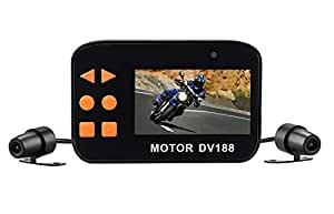 DV188 バイク用ドライブレコーダー 自転車 オートバイ用車載カメラ 1080P FHD 防水 二重レンズ 130°広角 ダッシュカム