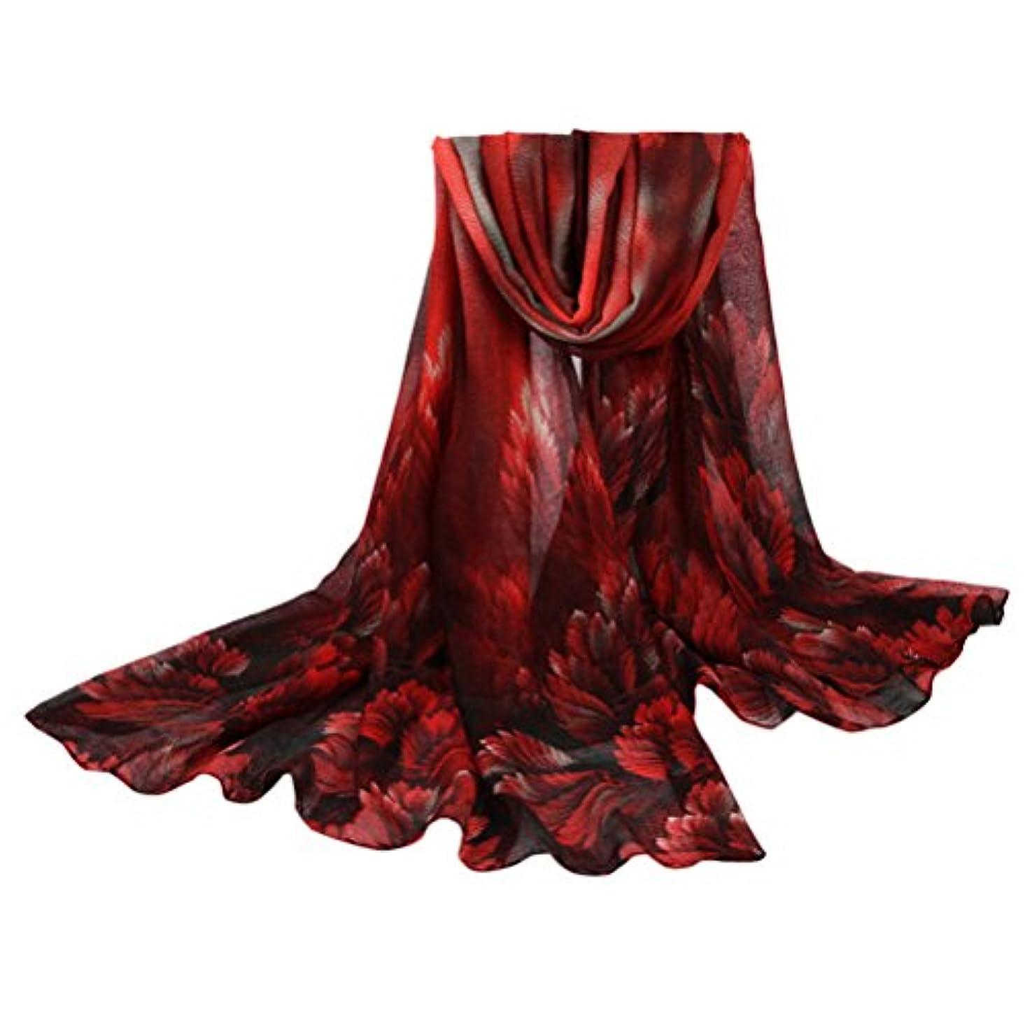 体現するアルネロマンスZhuhaitf Vintage Design Watercolor Coral Floral スタイリッシュ Scarf Neck Wrap Womens Sarong Shawls for Winter