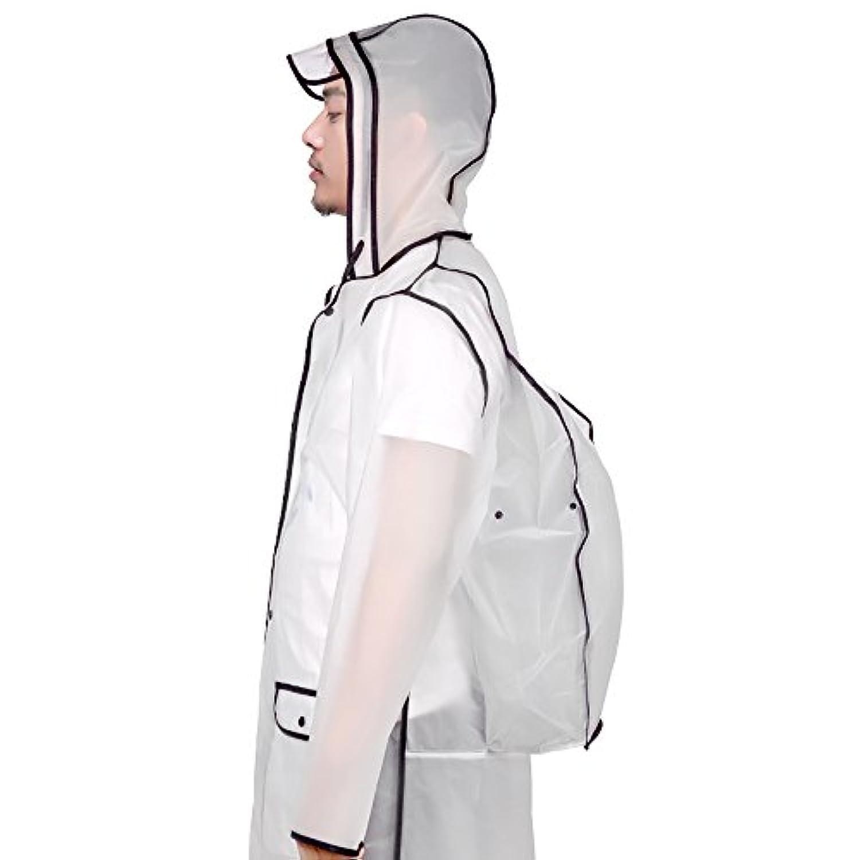 レインコート透明ポンチョ男女兼用 メンズ レディース 通勤通学 散歩 フリーサイズ 完全防水収納袋付き 高品質