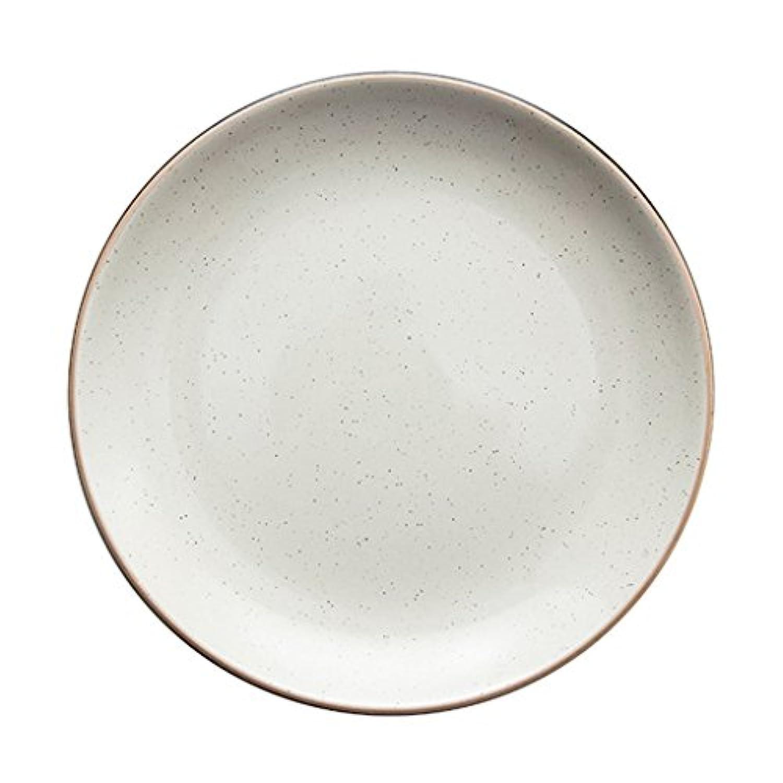 セラミックプレートケーキデザートプレート食器 ステーキ朝食プレートサラダプレート (Color : 白, Size : Diameter 26cm/10 inches)