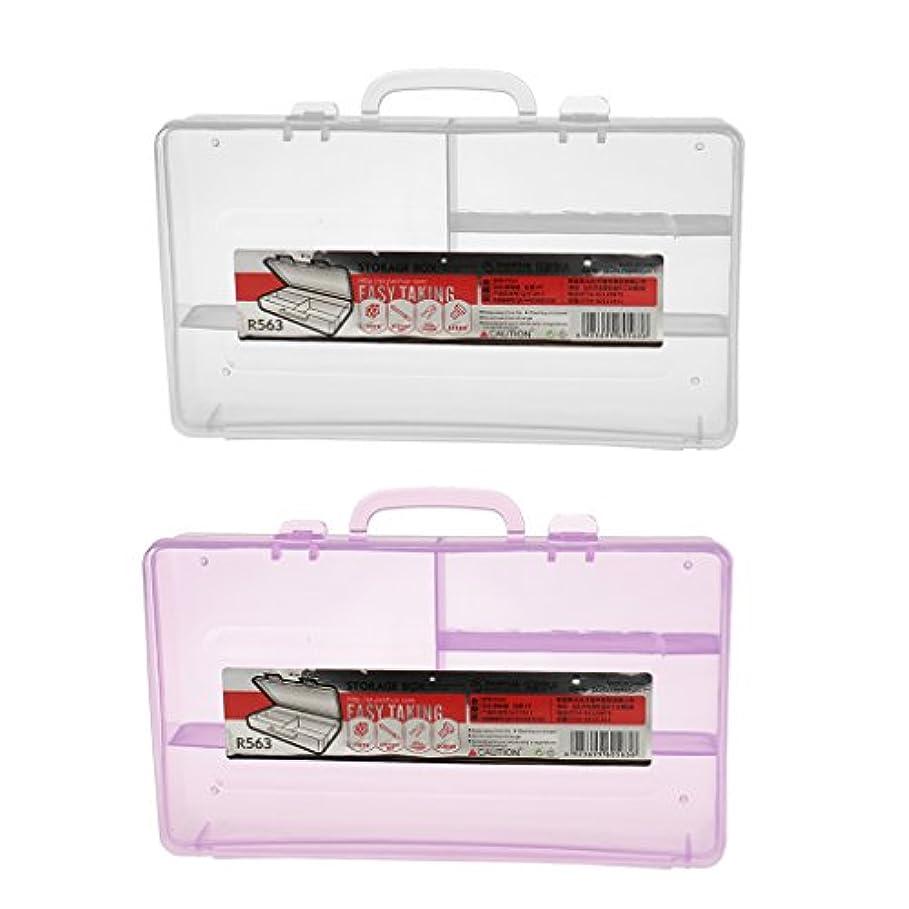 パン億香水Perfk ネイルアート ストレージ ケース ボックス 収納ボックス ジュエリー コンテナ 4コンパートメント含み