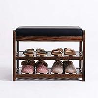 ピアノを変える クッションシート付玄関シューズラック、 2棚収納ベンチWフェイクレザートップベッドベンチ (サイズ さいず : 65cm)