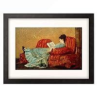 メアリー・カサット Mary Stevenson Cassatt 「Young Lady Reading」 額装アート作品