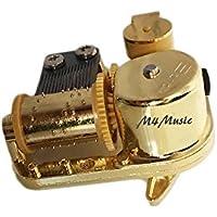 m4music 18ノートゴールドメタルハンドクランクDIY機械音楽ボックスMovement