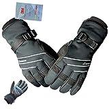 MOREOK サイクルグローブ スキー グローブサイクリンググローブ バイクグローブ スキー 手袋 登山 手袋 防寒グローブ 防寒 保温 タッチパネル バイク自転車冬用も暖かい手袋 男女共通