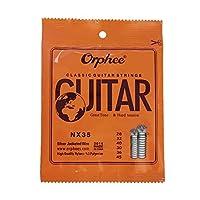 オルフェNX35ギター弦6PCSフルセットの交換(0.028から0.045)ナイロンコアシルバーetedワイヤーハードテンションギターの付属品:SHOW AS
