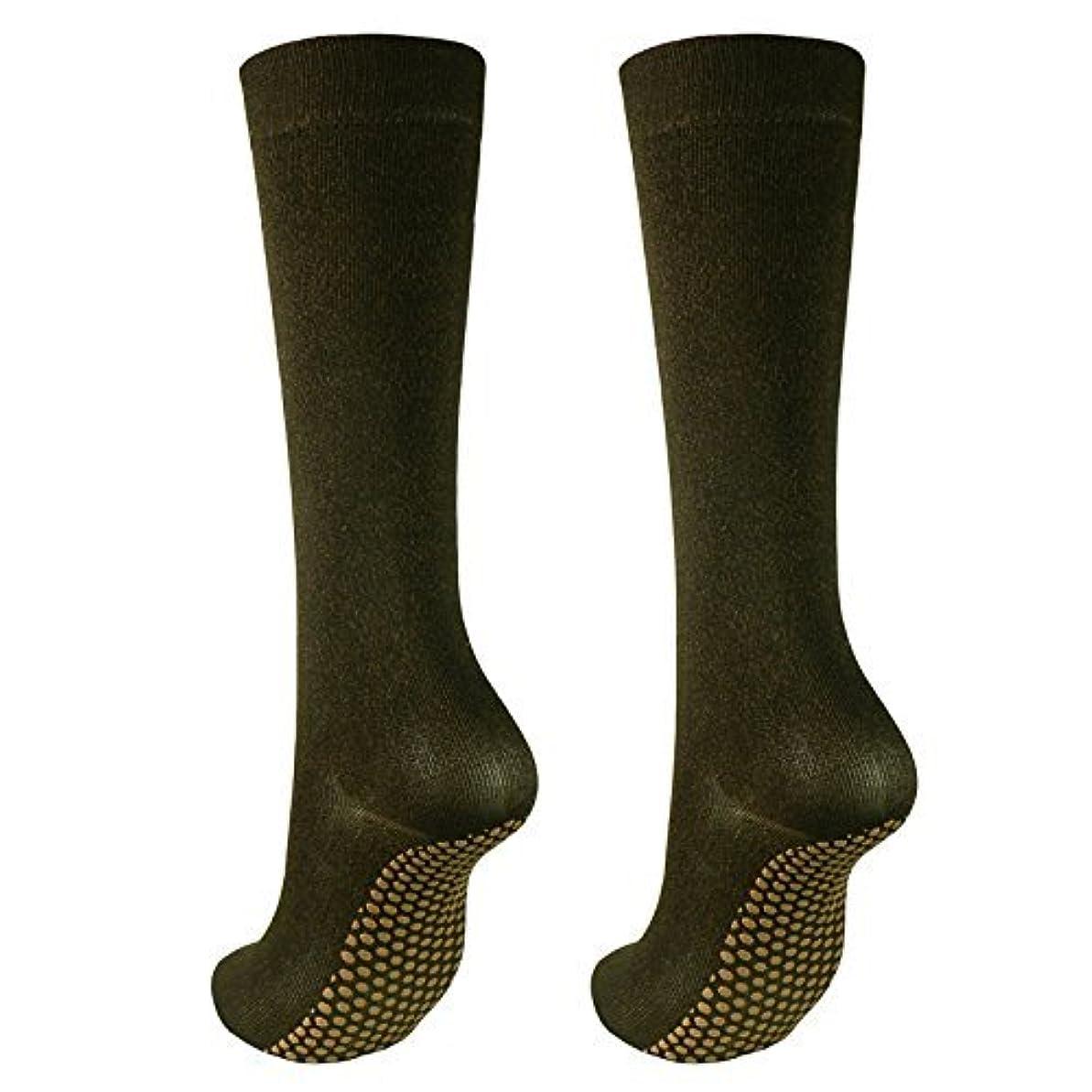 球体の間で虎銅繊維靴下「足もとはいつも青春」ハイソックスタイプ2足セット?静電気対策にも
