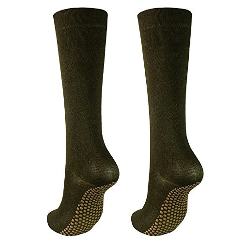 インスタンス手首フィット銅繊維靴下「足もとはいつも青春」ハイソックスタイプ2足セット?静電気対策にも