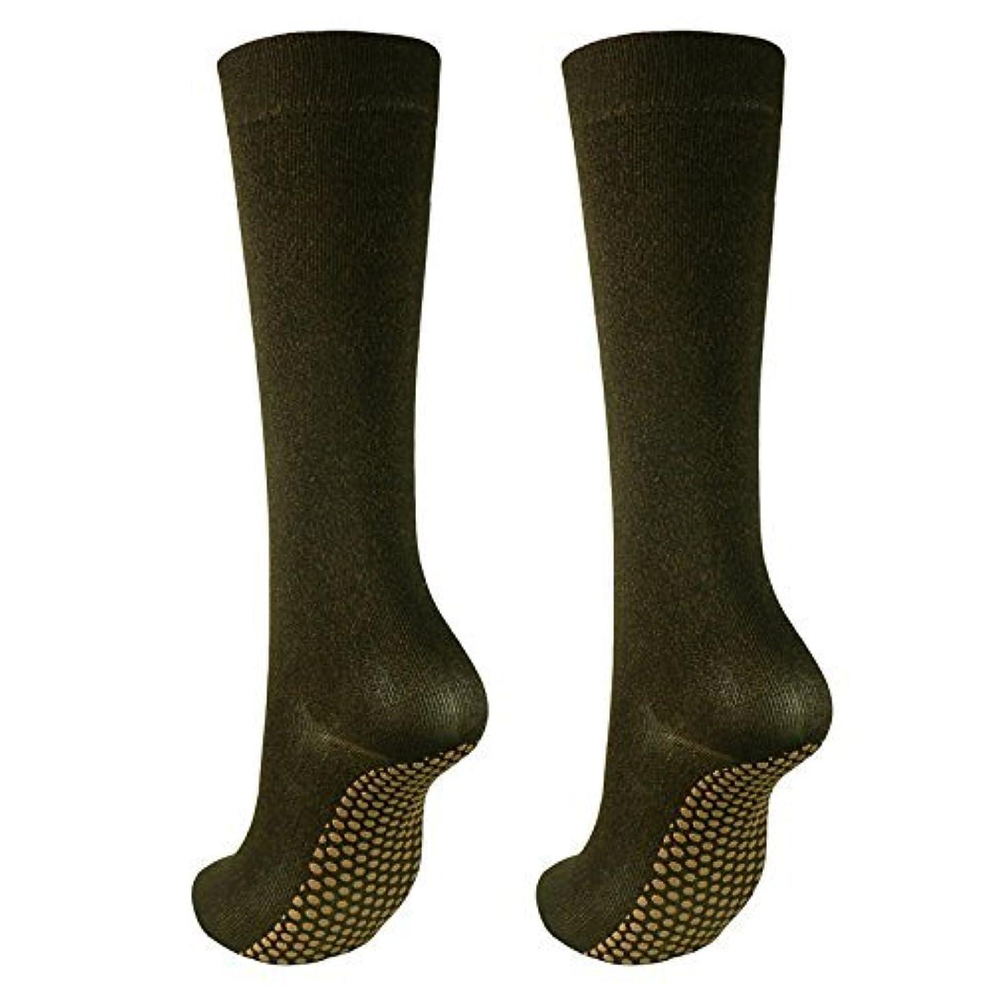 協同メガロポリス急行する銅繊維靴下「足もとはいつも青春」ハイソックスタイプ2足セット?静電気対策にも