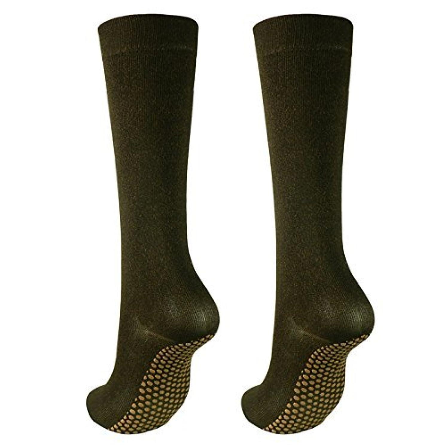 おなじみの聖人毒銅繊維靴下「足もとはいつも青春」ハイソックスタイプ2足セット?静電気対策にも