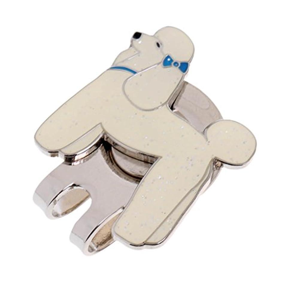 アレイバイアス切るToygogo 丈夫な素敵なペットの犬のデザイン磁気帽子キャップバイザークリップオンゴルフボールマーカー